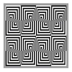 op art sixteen squares
