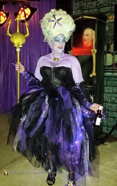 Homemade ursula costume all done in one night 2015 diy halloween ursula the spectacular sea witch costume solutioingenieria Images