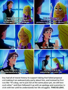 This show is amazing so far. Rapunzel and Eugene are my favorite Disney couple Disney Pixar, Disney Memes, Disney Quotes, Disney And Dreamworks, Disney Animation, Disney Cartoons, Walt Disney, Disney Tangled, Tangled Rapunzel