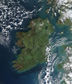 Ireland, from Space.  Amazing, wonderful, loving people and incredible island beauty and history.