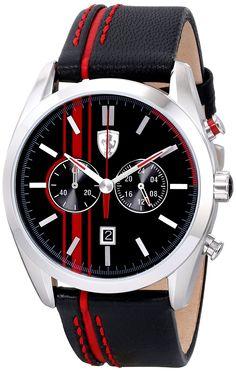 Ferrari Men's 0830177 D 50 Analog Display Quartz Black Watch