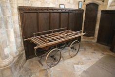 Funeral bier in St.Helen's church, Brant Broughton, Lincolnshire, Great Britain.