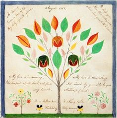 """Polly Collins (1801-1884). One of the extraordinary """"gift drawings' in the Hancock Shaker Village Collection"""