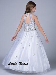 Little Rosie Round Neckline Pageant Dress LR2037|PageantDesigns.com