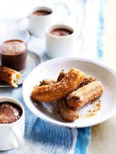 Churros with champurrado