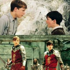 Look at the change in Edmund and Peter's relationship from the beginning of the first to the end of the second.