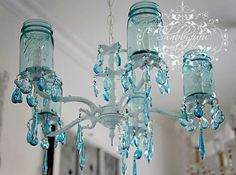 I am going to try to make one of these for over my hot tub, but with candles in the jars instead.  Can't I use the mason jar coloring idea?