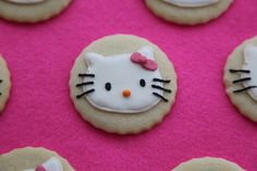 Hello Kitty Iced Cookies