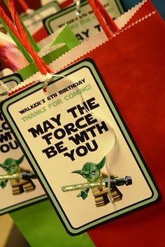 Star Wars Gift Bag Tags star wars boy birthday party favor ideas for star wars birthday party