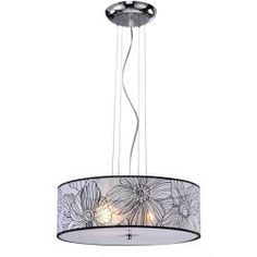 Shop for Floral Shade Pendant Chandelier. Get free delivery On EVERYTHING* Overstock - Your Online Ceiling Lighting Store! Ceiling Chandelier, Pendant Chandelier, Pendant Lighting, Ceiling Lights, Light Pendant, Clever Design, Lighting Store, Chrome Finish, My Dream Home