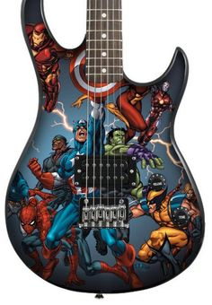 heck out this Peavey Rockmaster Marvel Avengers Electric Guitar for only $53.95 shipped! The list price is $179.99. The Limited Rockmaster Avengers guitar, Peavey's most affordable full-size gu