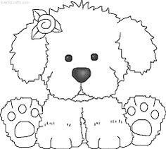 Resultado de imagen para perritos para colorear faciles