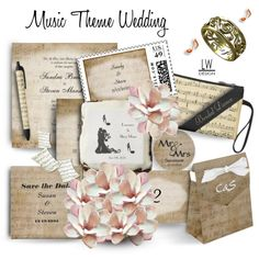 An art collage from April 2015 by kashmier featuring art. Music Theme wedding invitation suite. Matching Save the date, RSVP, US postage and more to complete a music wedding with class.  http://www.zazzle.com/collections/music_theme_wedding_suite-119685215541907960?rf=238207742997519561&tc=poly