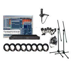 Tascam US-1800 Home recording Studio Set Up Kit With 5Kit Cl2 AT2020 Rh3C
