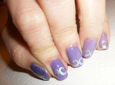 Dégradé violet et stamping