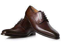 Modell No. 534 - Rahmengenähter Plain Derby in Dunkelbraun. Derby, Gents Shoes, Men Dress, Dress Shoes, Oxford Shoes, Lace Up, Fashion, Shoes Men, Men's Pants