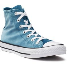 Women S Converse Chuck Taylor All Star Velvet High Top Sneakers 39 Liked On Polyvore Featuring Shoes Blue Tops