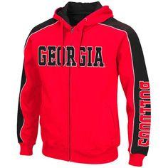 6f5b124a88 Georgia Bulldogs Colosseum Big   Tall Thriller II Full-Zip Hoodie - Red
