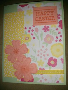 All Abloom Paper, Pistachio Pudding Paper, Crisp Cantaloupe Paper, Flower Shop stamp set, Pansy Punch, Crystal Effects