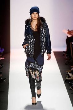 When in doubt, wear it all together - BCBG Max Azria Fall 2013 #NYFW