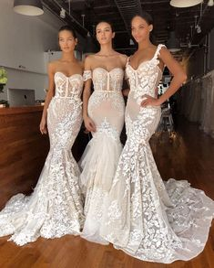 Gorgeous gowns by .😍 Gorgeous gowns by ✨. Dream Wedding Dresses, Bridal Dresses, Wedding Gowns, Bridesmaid Dresses, Wedding Parties, Lace Wedding, Reception Dresses, Berta Bridal, Dream Dress
