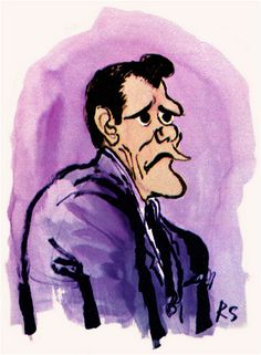 Ronald Searle - 'Bewitched' (Dick York as Darren)