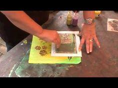 Fabric Painting Feb 2014 - YouTube