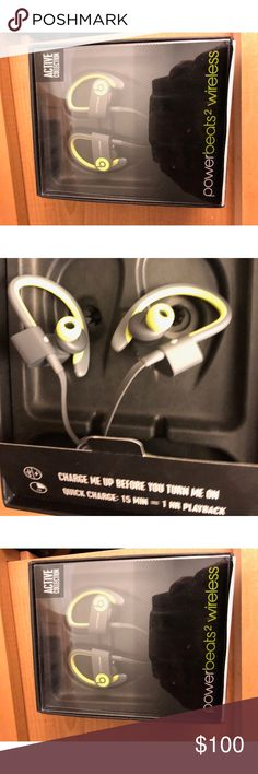 Never used Powerbeats2 wireless in ear earbuds Brand new still in box. Literally tried on and did not like the way they felt on my ear. Price is negotiable ! beats Accessories