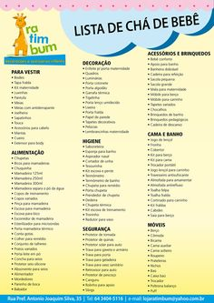 sugestão de lista para presentes no chá de bebê Baby Checklist, Baby Shawer, Future Mom, Baby List, Thing 1, First Time Moms, Baby Bedroom, Nurse Life, Doula
