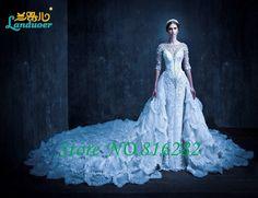 Cheap Lusso Musulmano Abito Da Sposa Vintage Scoop Stunning In Rilievo Vestido…