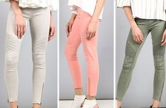GroopDealz | Classic Motto Leggings - 6 Colors! Motto Leggings, Stretch Denim Fabric, Soft Shorts, Linen Pants, Skinny Pants, Online Boutiques, Capri Pants, Swimsuits, Colors