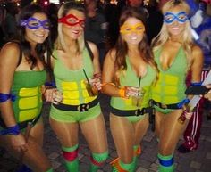 TMNT Girls Group Halloween Costumes