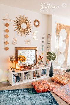 boho room decoration models fantastic - Home Sweet Bedroom Minimalist, Zen Space, Stylish Bedroom, Modern Bedroom, Contemporary Bedroom, Bedroom Classic, Boho Room, Room Decor Boho, Bohemian Decor