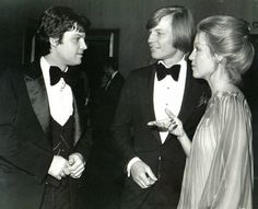 Ilya Salkind with Michael York and his wife Pat at the premiere of THE THREE MUSKETEERS (1973)