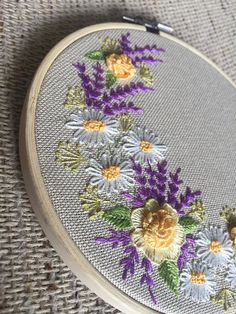 Embroidery hoop art wall hanging gift flowers hoop art wall decor hoop art wreath roses art roses and wildflowers hoop art Rose Embroidery, Learn Embroidery, Embroidery Hoop Art, Hand Embroidery Designs, Embroidery Patterns, Hanging Flower Wall, Hanging Wall Art, Wall Hangings, Hand Embroidery Tutorial