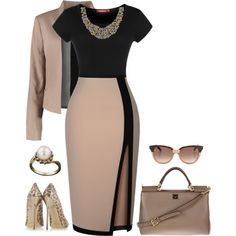 Korean Fashion Looks .Korean Fashion Looks Classy Dress, Classy Outfits, Stylish Outfits, Mode Outfits, Dress Outfits, Fashion Dresses, Business Outfits, Business Fashion, Polyvore Outfits