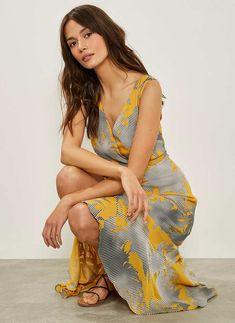 Clementine Print Ruffled Dress Ruffle Dress, Fashion Makeover, Future Fashion, Fabric, Shopping, Dresses, Style, Tejido, Vestidos