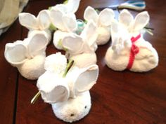 Handmade by Meg K: Washcloth Bunny Tutorial- Stocking Stuffers for Around a Dollar