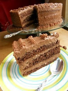 Tort Ferrero rocher i krem bez masła :) Smaczne domowe… Baking Recipes, Cake Recipes, Decadent Chocolate Cake, Polish Recipes, Food Cakes, How Sweet Eats, Pavlova, Cake Cookies, Vanilla Cake