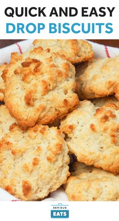 """Fannie Farmer of the famed Boston School of Cooking called drop biscuits """"Emergency Biscuits,"""" which is appropriate considering that all you need to make them is 25 minutes and five basic ingredients. Not only are these quick to make, but they're also super fluffy and tender."""