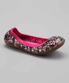 Take a look at this Hot Pink Jennifer Flat by Rampage on #zulily today!