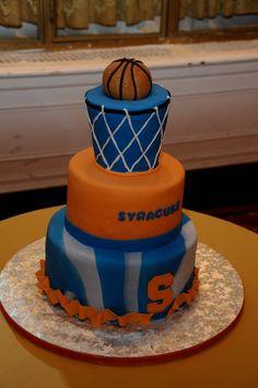 basketball-inspired birthday cake