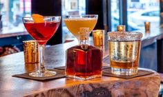 This Prohibition-era themed speakeasy in the Upper East Side doles out refined bar bites, such as cheese platters, flatbreads, small plates, and sweets, alongside sophisticated libations. The...