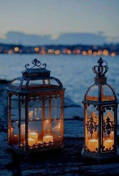 So many beautiful ways to personalize and customize lanterns....