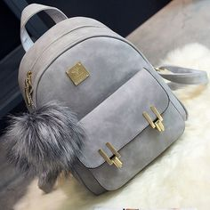 0ee07a79c36a4 I found the Fashion Frosted PU Zippered Backpack With Metal Lock Match  School Bag