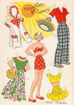 Image result for hilda miloche paper dolls