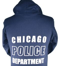 4026.1 Chicago Police Hoodie New Design Chicago Fire Department and Chicago Police Department gifts.