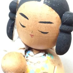 Very unusual Vintage Japanese Kokeshi girl with sack by ZigZakka on Etsy