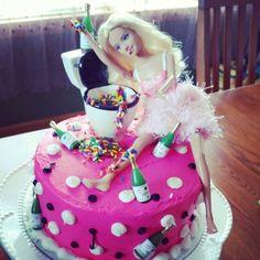 Drunk barbie cake!!! Drunk Barbie Cake, Barbie Funny, 24th Birthday, Birthday Ideas, Birthday Cake, Baking Cupcakes, Cupcake Cakes, 30th, 21st