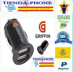 Cargador de Coche para Apple Apple iPhone 5S 5 S Negro 2 USB Doble Dual Movil *